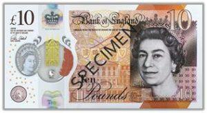 Billet 10 Livres sterling
